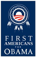 """Barack Obama - (First Americans for Obama) Campaign Poster - 11"""" x 17"""""""
