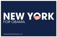 "Barack Obama - (New York for Obama) Campaign Poster - 17"" x 11"""