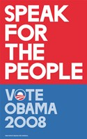 Barack Obama - (Speak for People-red) Campaign Poster Wall Poster