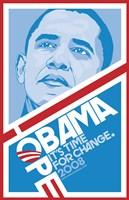 """Barack Obama - (Hope, Blue) Campaign Poster - 11"""" x 17"""""""