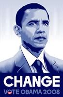 """Barack Obama - (Change) Campaign Poster - 11"""" x 17"""""""