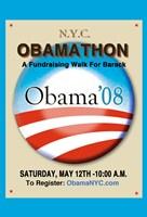 "Barack Obama - (Obamathon) Campaign Poster - 11"" x 17"""