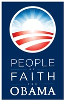 """Barack Obama - (People of Faith for Obama) Campaign Poster - 11"""" x 17"""""""
