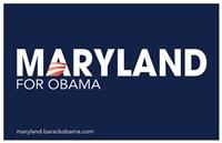 """Barack Obama - (Maryland for Obama) Campaign Poster - 17"""" x 11"""""""