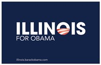 "Barack Obama - (Illinois for Obama) Campaign Poster - 17"" x 11"""