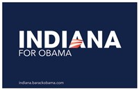 "Barack Obama - (Indiana for Obama) Campaign Poster - 17"" x 11"", FulcrumGallery.com brand"