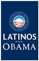 "Barack Obama - (Latinos for Obama) Campaign Poster - 11"" x 17"""