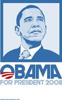 """Barack Obama - (Blue) Campaign Poster - 11"""" x 17"""", FulcrumGallery.com brand"""