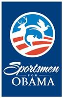 """Barack Obama - (Sportsmen for Obama) Campaign Poster - 11"""" x 17"""""""