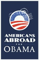 """Barack Obama - (Americans Abroad for Obama) Campaign Poster - 11"""" x 17"""""""