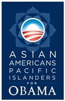 "Barack Obama - (Asian Americans for Obama) Campaign Poster - 11"" x 17"""