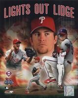 """Brad Lidge """"Lights Out Lidge"""" 2008 Portrait Plus - 8"""" x 10"""""""