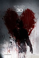 """My Bloody Valentine 3-D - style A, 2009, 2009 - 11"""" x 17"""""""