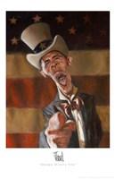 Barack Obama - Obama Wants You Fine Art Print
