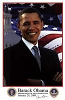 Barack Obama - Inauguration 2009 With Presidential Seals Fine Art Print
