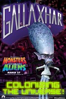 Monsters vs. Aliens, c.2009 - style G Wall Poster