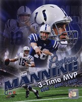Peyton Manning 3 X MVP Portrait Plus Fine Art Print