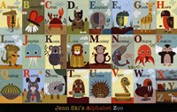 Alphabet Zoo Fine Art Print