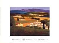 """Village au Printemps by Elisabeth Estivalet - 24"""" x 18"""""""