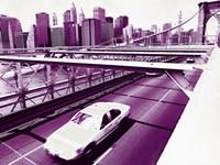"NYC Brooklyn Bridge - 16"" x 12"", FulcrumGallery.com brand"