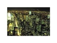 "New York City at Night - 16"" x 12"""