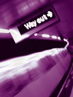 """NYC Way Out - 12"""" x 16"""", FulcrumGallery.com brand"""