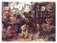 Teddy Bear Workshoppe Framed Print