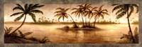 "Golden Tropics I by Michael Marcon - 36"" x 12"" - $18.99"