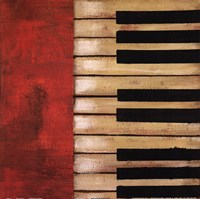 "Piano Keys by Hakimipour - Ritter - 12"" x 12"""
