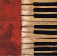 "Piano Keys by Hakimipour - Ritter - 6"" x 6"""
