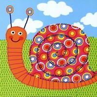 "Sita The Snail by Jessie Eckel - 12"" x 12"""