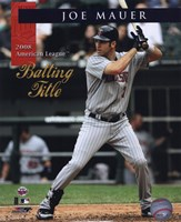 Joe Mauer 2008 American League Batting Title With Overlay Fine Art Print