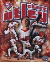 Chase Utley 2008 Portrait Plus Fine Art Print