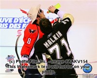 Alex Ovechkin & Evgeni Malkin 2008-09 NHL All-Star Game Action Fine Art Print
