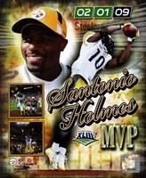 "Santonio Holmes Super Bowl XLIII MVP Portrait Plus #36 - 8"" x 10"""