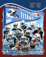 """2008 Tennessee Titans AFC South Division Champs, 2008 - 8"""" x 10"""""""