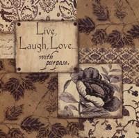 """Live, Laugh, Love by Jo Moulton - 12"""" x 12"""""""
