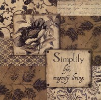 "Simplify by Jo Moulton - 12"" x 12"""