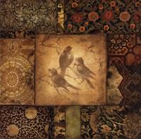 Avian Tapestry I Framed Print