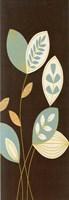 Blue Flutter I Gold Fine Art Print