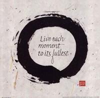 "Live Each Moment... by Chris Paschke - 10"" x 10"", FulcrumGallery.com brand"