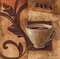 Deco Coffee III Java Framed Print