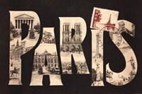 "Postcard from Paris by Wild Apple Studio - 36"" x 24"""