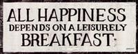 Leisurely Breakfast Framed Print