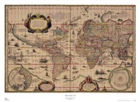 Explorer's World, 1630, Blau Fine Art Print