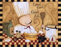 Good Food Good Life Fine Art Print