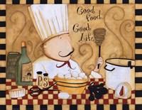 "Good Food Good Life by Dan Dipaolo - 10"" x 8"" - $11.49"