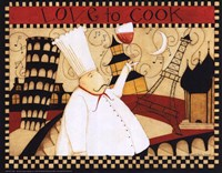 """Love to Cook by Dan Dipaolo - 10"""" x 8"""", FulcrumGallery.com brand"""
