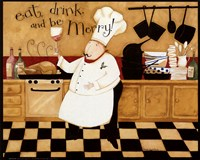 Eat, Drink & be Merry Fine Art Print