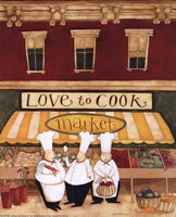 """Love to Cook Market by Dan Dipaolo - 8"""" x 10"""""""